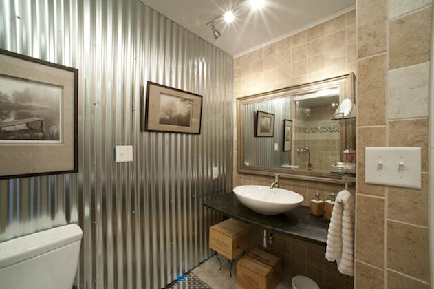 Linesync architecture for Corrugated iron bathroom ideas